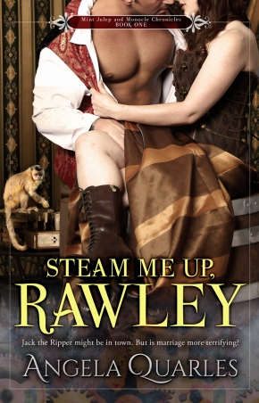 Cover Reveal: STEAM ME UP, RAWLEY by Angela Quarles