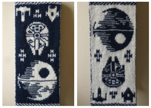 Make yourself a geeky little christmas smart girls love scifi star wars scarf via notanicedragon crochet publicscrutiny Gallery
